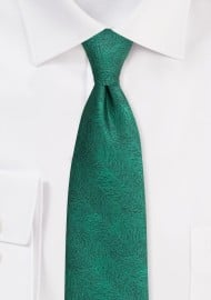 Wood Grain Textured Tie in Juniper Green