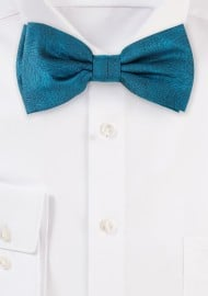 Wood Grain Textured Bow Tie in Gem Green