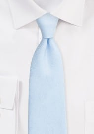 Ice Blue Tie with Wood Grain Weave