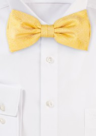 Wood Grain Bowtie in Sunflower