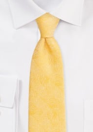 Wood Grain Weave Tie in Sunflower Yellow