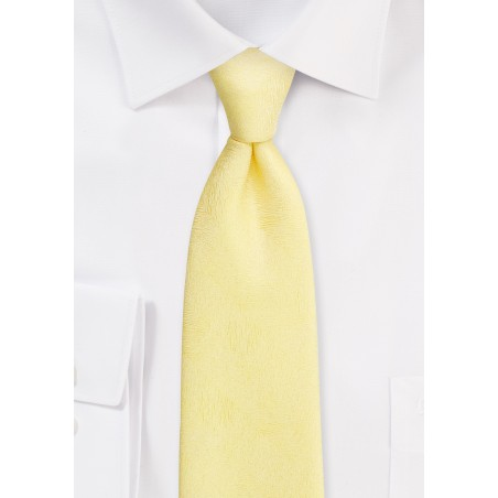 Spring Yellow Tie with Wood Grain Texture