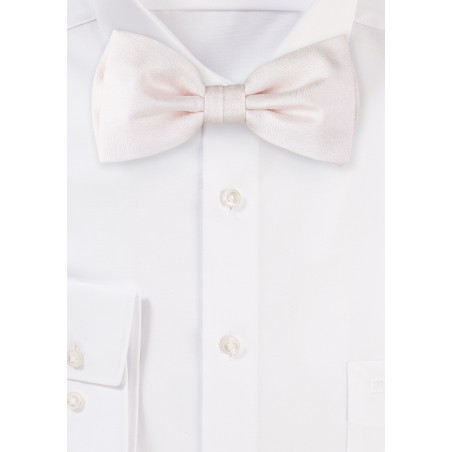 Wood Grain Bowtie in Blush Pink