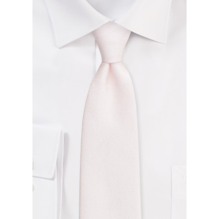 Wood Grain Textured Tie in Blush