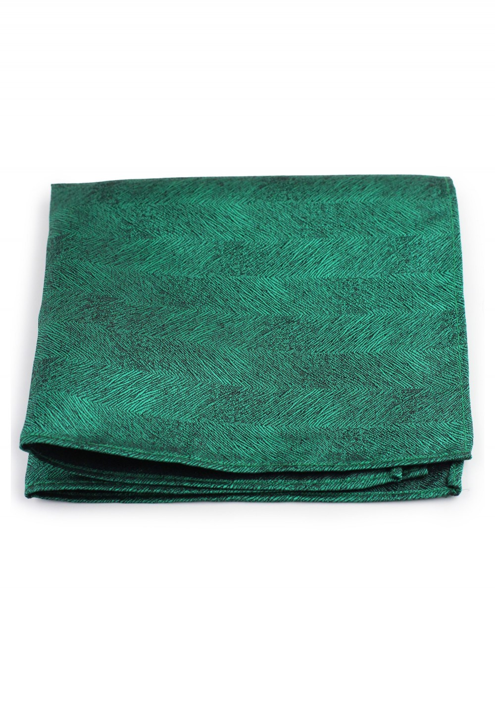 Woon Grain Textured Pocket Square in Green