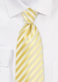 Daffodil Yellow Striped Kids Tie