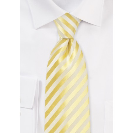 Daffodil Yellow Striped Kids Tie