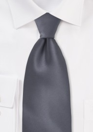 Solid Charcoal Grey Tie for Kids