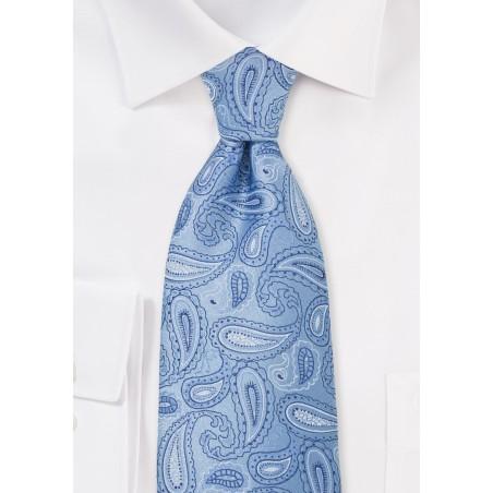 Light Blue Paisley Necktie
