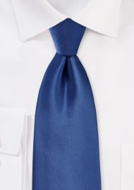 Solid Cobalt Blue Tie in Extra Long