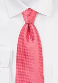 XL Length Summer Necktie in Coral Reef