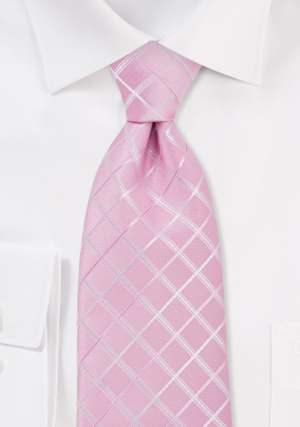 Pink Check Design Tie for Kids