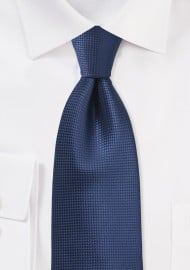 Solid Color Tie in Estate Blue
