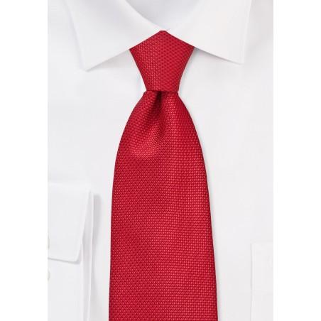 Grenadine Texture Tie in Bright Red