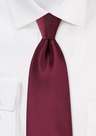 Claret Red Tie in XL