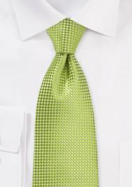 Textured Kids Tie in Parrot Green