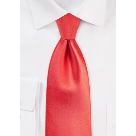 Neon Coral Colored Kids Tie