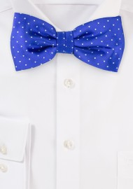 Royal Blue Polka Dot Bow Tie