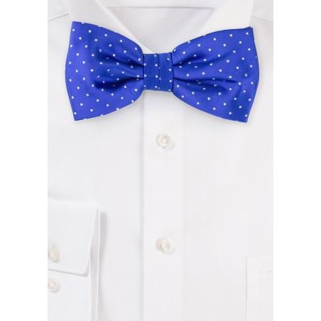 Royal Blue Polka Dot Bow Tie