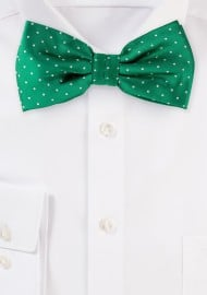Kelly Green Polka Dot Bow Tie