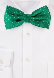 Kelly Green Polka Dot Bow Tie