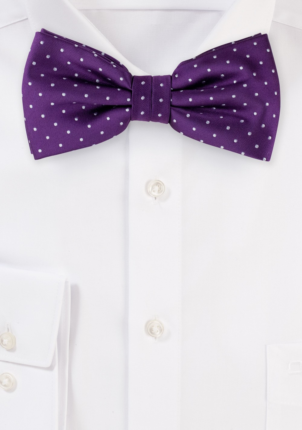 Grape Purple Polka Dot Bow Tie