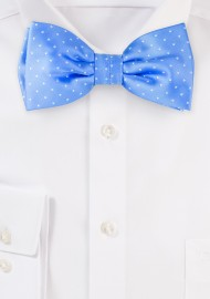 Sky Blue Polka Dot Bow Tie