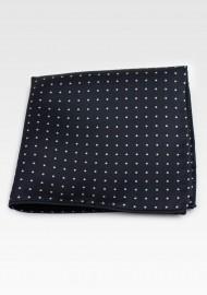 Black Polka Dot Pocket Square Hanky