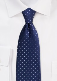 Midnight Blue Polka Dot Tie