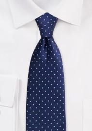 Midnight Blue Polka Dot Tie