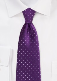 Grape Purple Polka Dot Tie