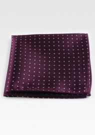 Burgundy Hanky with Silver...