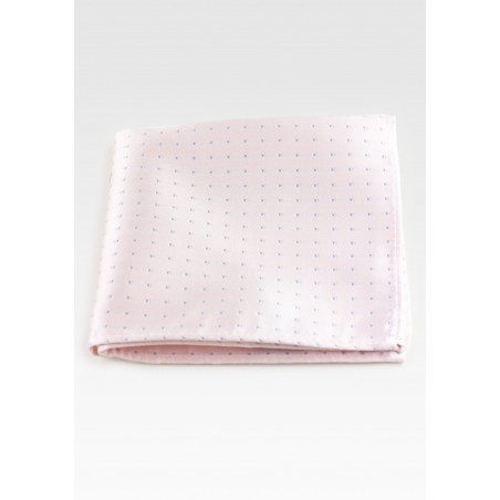 Blush Pink Hanky with Silver Polka Dots