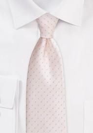 Blush Pink Polka Dot Tie