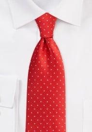 Cherry Red Polka Dot Mens Tie
