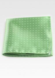 Light Green Polka Dot Hanky