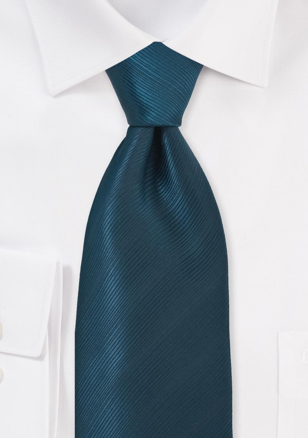 Extra Long Dark Teal Neck Tie