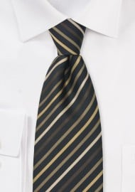 Black and Brown Striped Tie