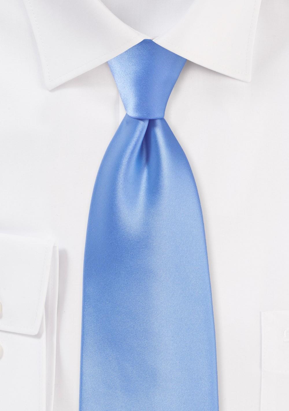 Bright Sky Blue Necktie
