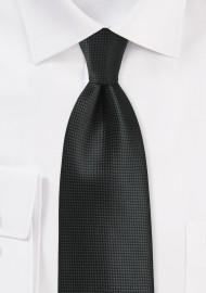 Textured Necktie in Jet Black