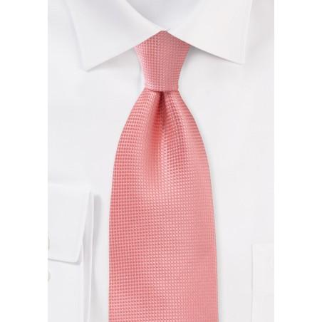 Extra Long Necktie in Coral Sorbet