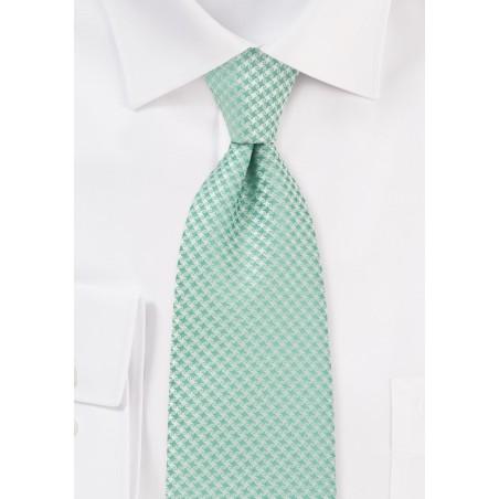 XL Length Designer Tie in Clover Green