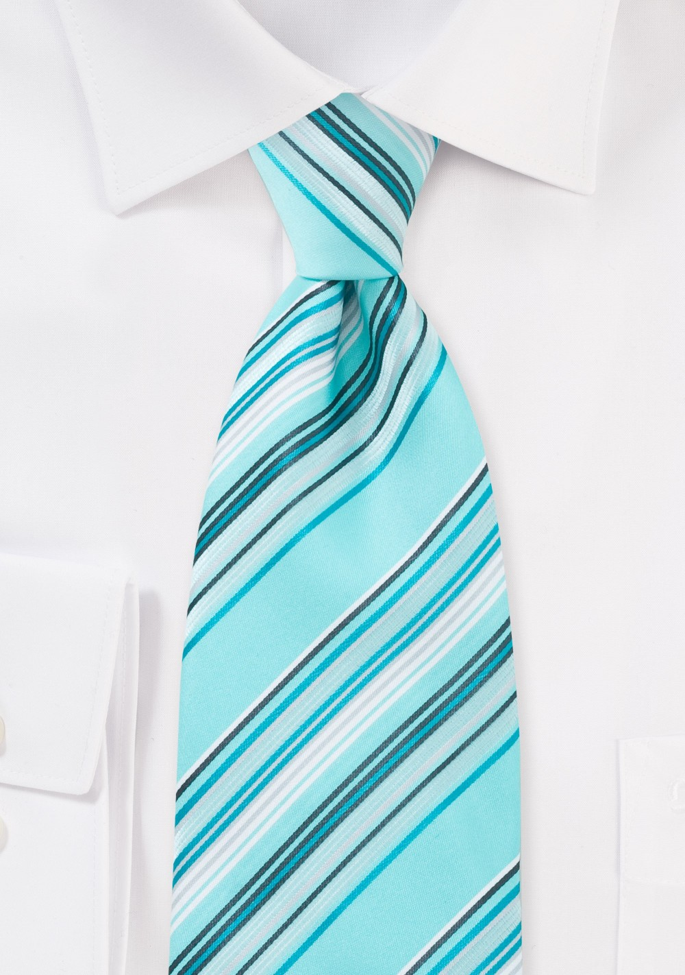 Aquamarine Blue Striped Tie