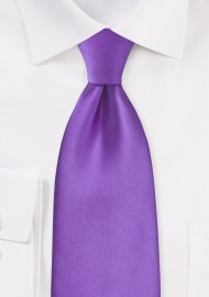 Kids Bright Purple Necktie