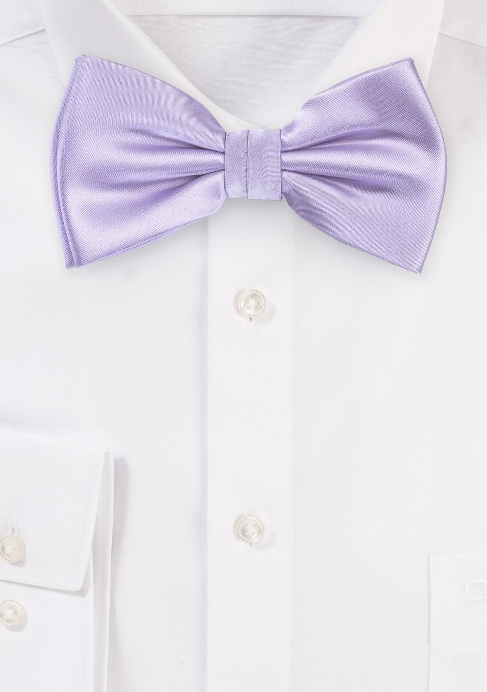 Soft Lavender Color Bow Tie