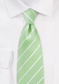 Kids Tie in Pistachio Green