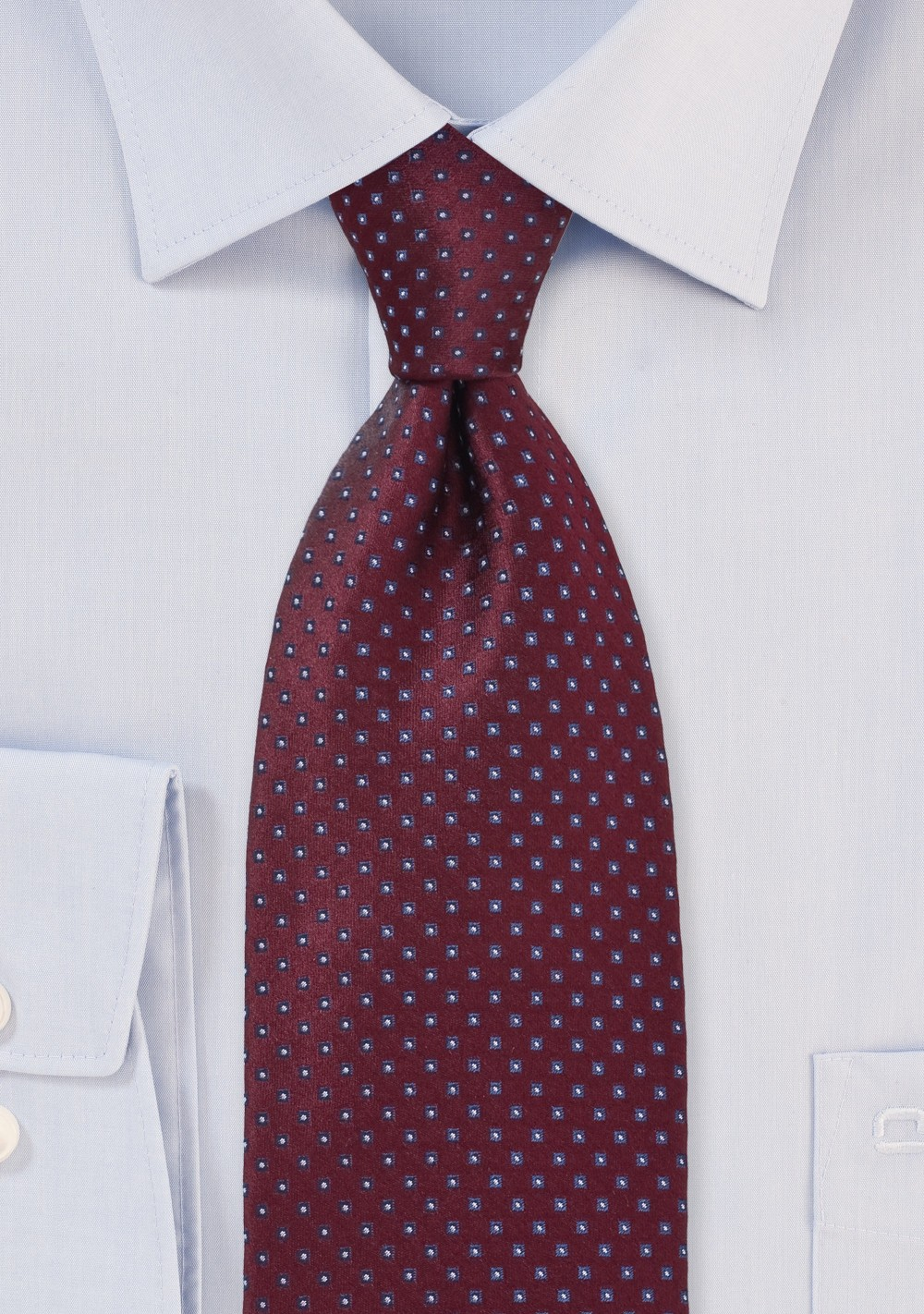 Traditional Blue and Burgundy Tie