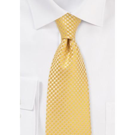 Dandelion Yellow Mens Necktie