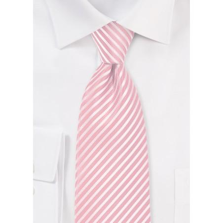 Petal Pink Striped Tie in XL