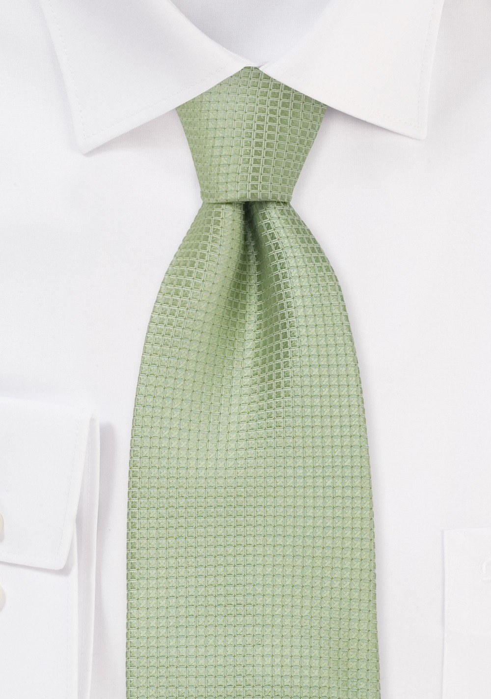 Light Green Kids Silk Tie